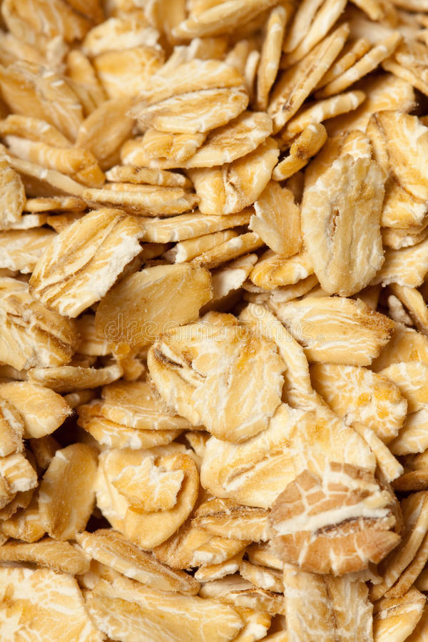 Rolled oats stock image