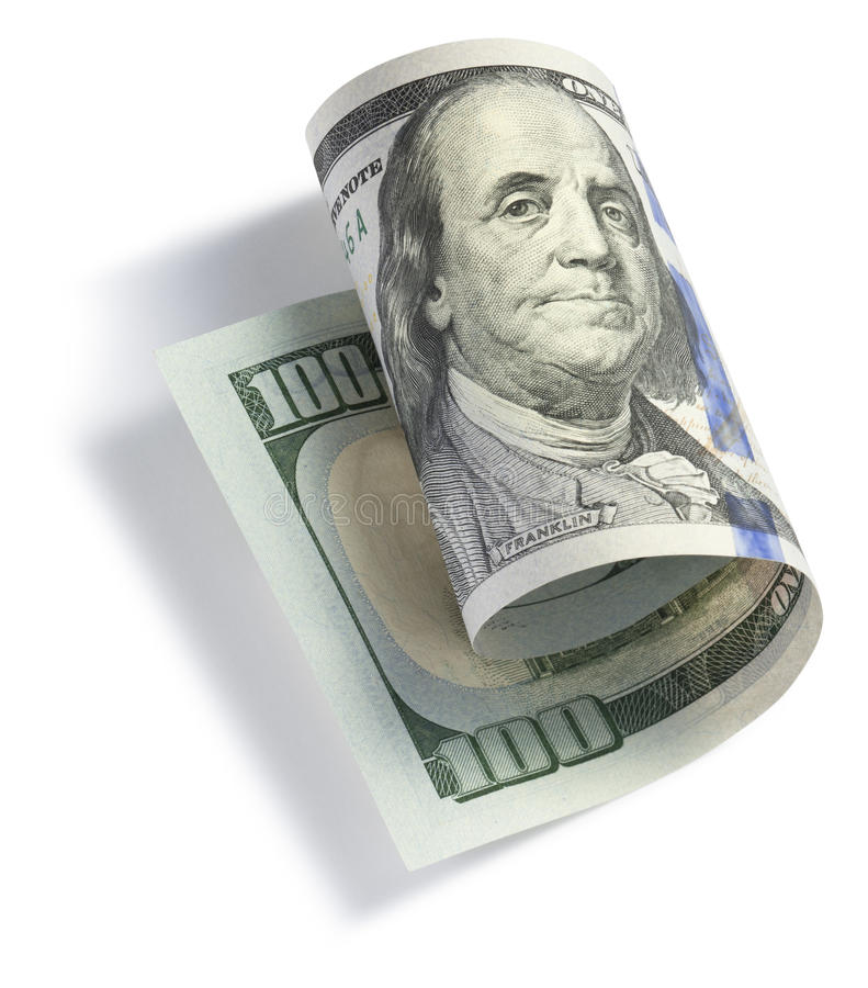 Download Rolled One Hundred Dollar Bill Stock Photo - Image: 36514786