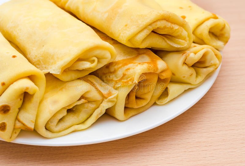 Download Rolled pancakes stock image. Image of heat, brown, nutritional - 39505759