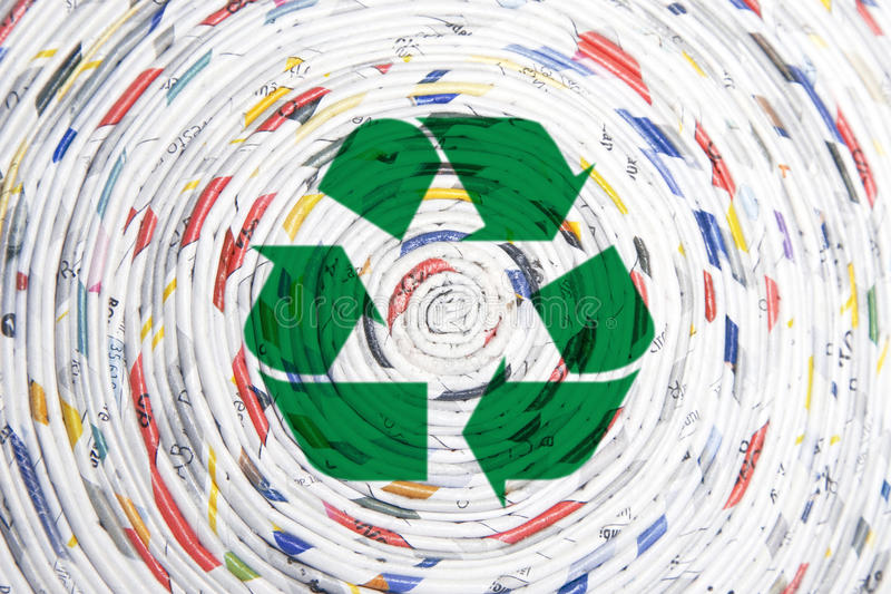 Download Rolled Paper Spiral, Recycling Concept Stock Illustration - Image: 22940389