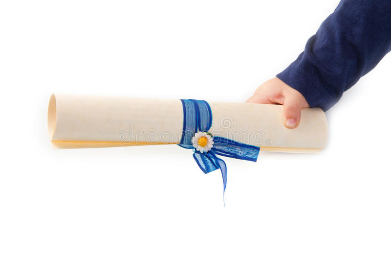 Download Rolled sheet stock photo. Image of certificate, grip - 27877744