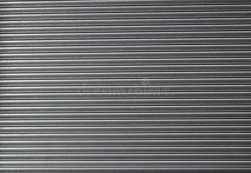 Rolled Steel Shutter Door stock photography