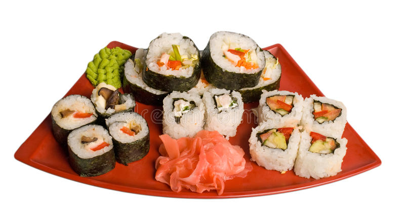 Download Rolled and sushi stock image. Image of food, close, east - 11772965