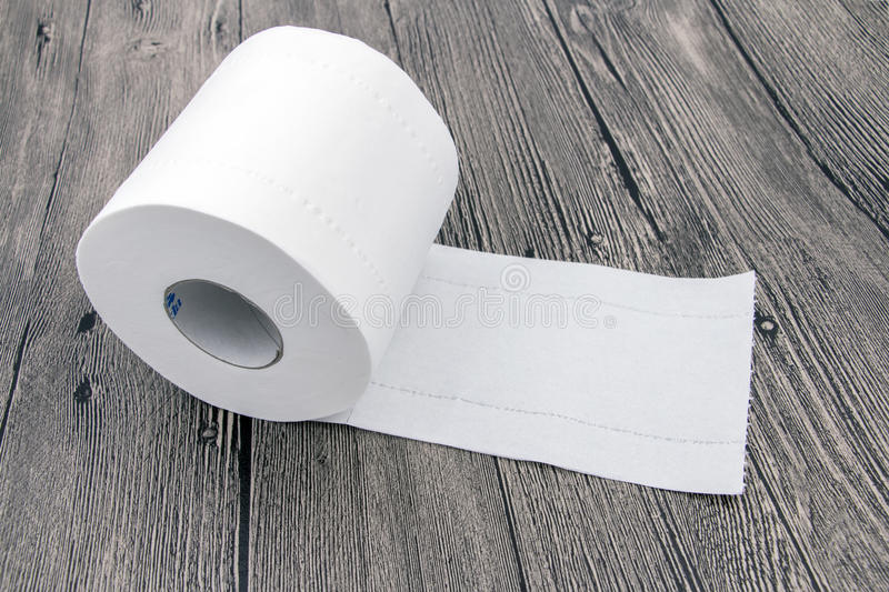 Rolled Toilet Paper stock photography