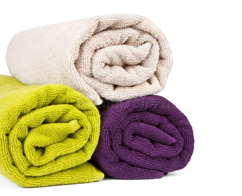 Download Rolled up colorful towels stock image. Image of hotel - 19663419