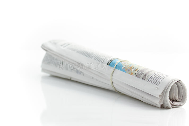 Rolled up newspaper 2 royalty free stock photography