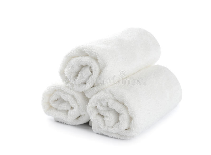 Rolled Up White Beach Towel Stock Image - Image of ...