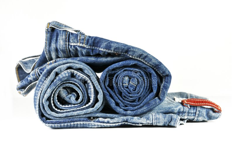 Download Rolled Washed-out Blue Jeans Stock Photo - Image: 9291886
