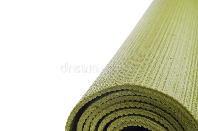 Rolled Yoga Mat Border Background royalty free stock photo