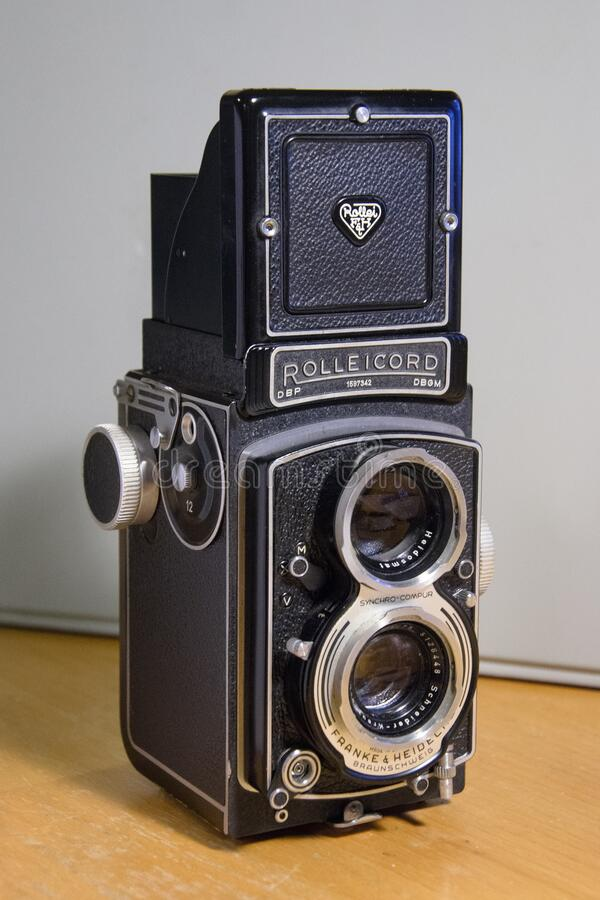 Classic Rolleicord camera circa 1958 royalty free stock images