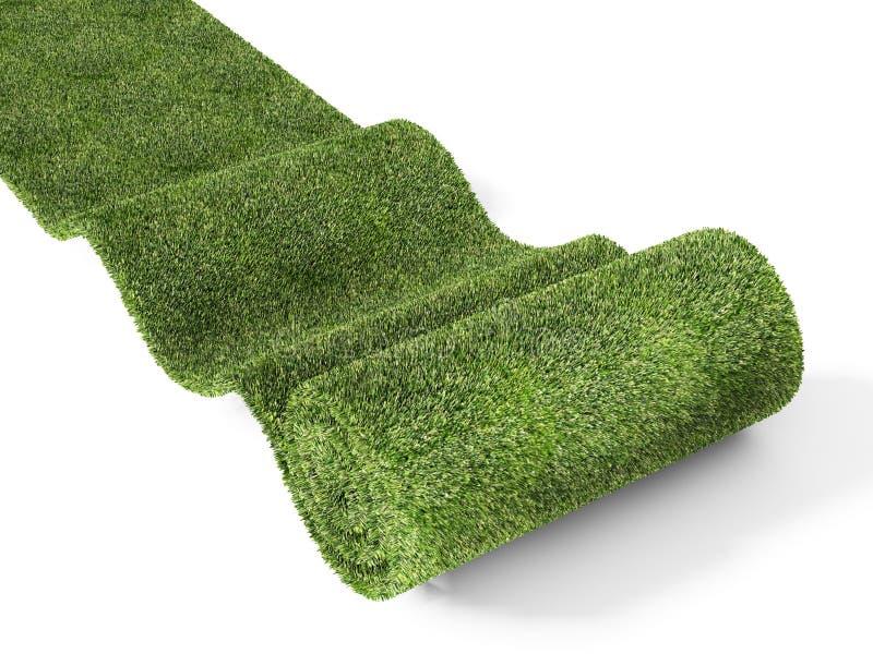 Rollen eco Grünteppich stock abbildung