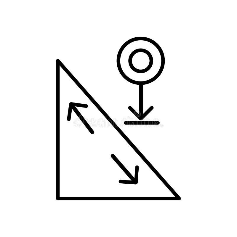Rollender Ikonenvektor lokalisiert auf weißem Hintergrund, Rollenzeichen, Zeichen und Symbolen in der dünnen linearen Entwurfsart stock abbildung