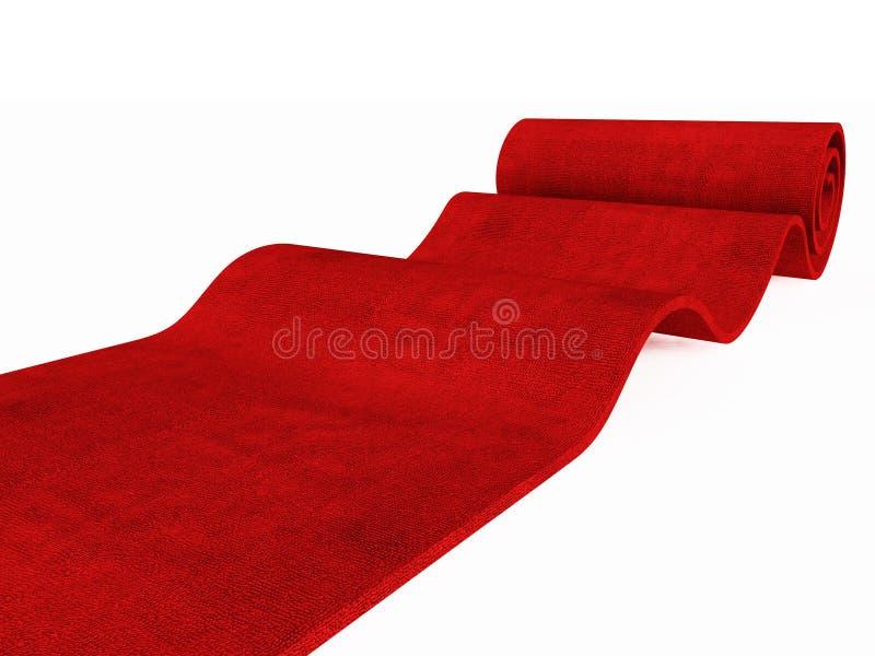 Rollender roter Teppich lizenzfreie stockfotos