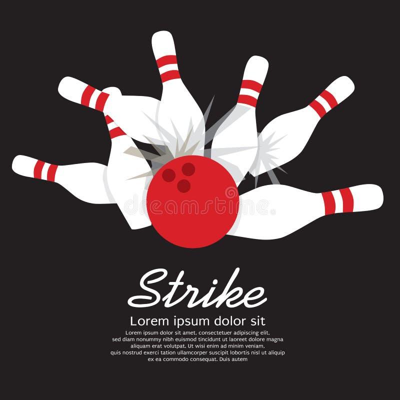 Rollender Streik vektor abbildung