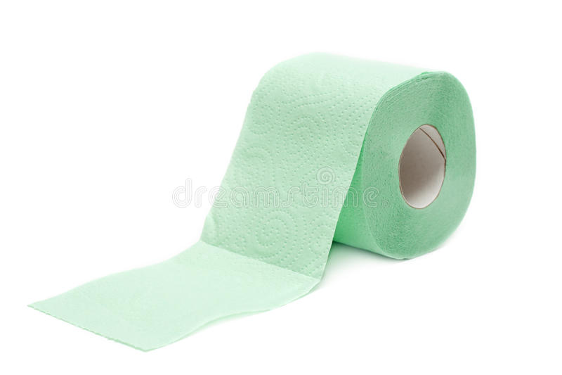 Rollengrünes Toilettenpapier lizenzfreie stockfotografie