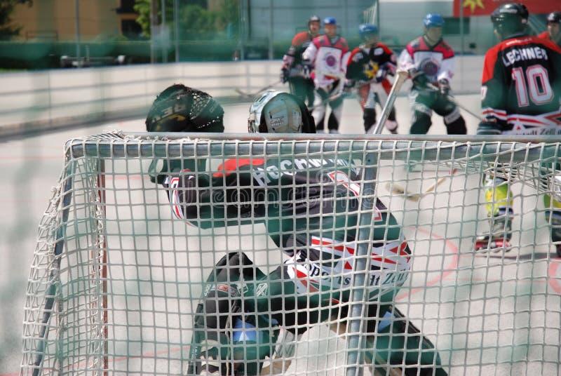 Rollenhockey in Österreich stockfoto