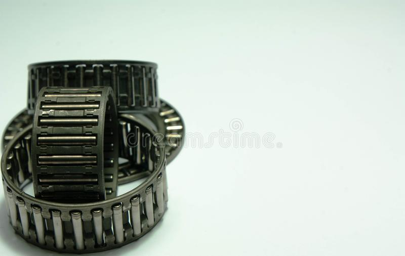 Roller bearings on a white background. royalty free stock photos