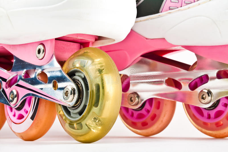 Roller blades close up royalty free stock photos