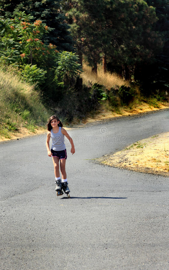 Roller Blading in the Country royalty free stock images