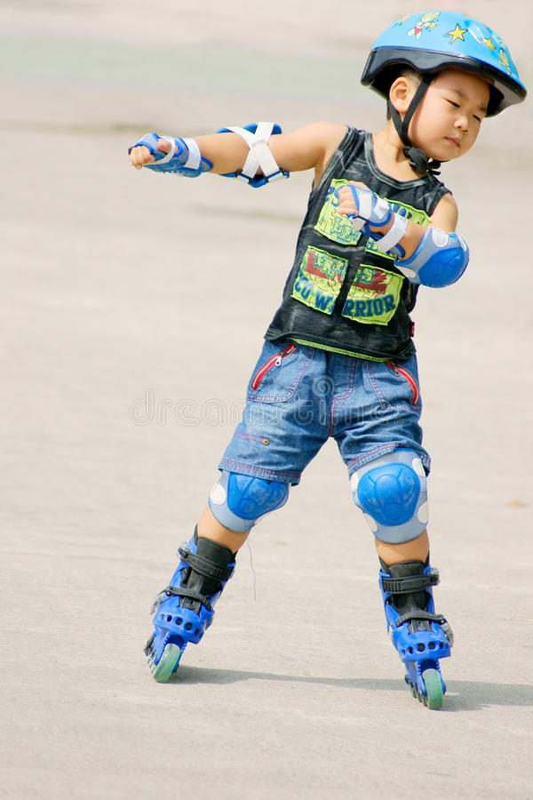 Roller boy stock image