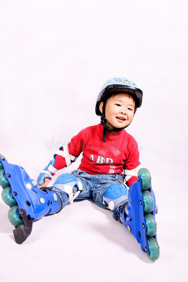Roller boy stock images