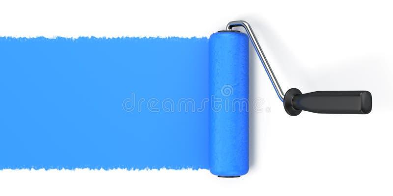 Roller brush. On white background vector illustration