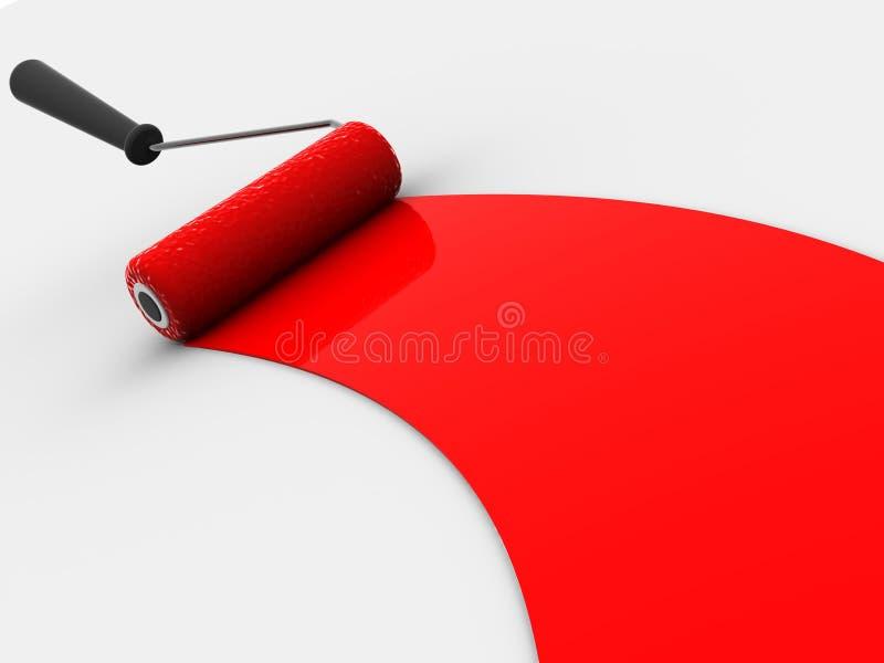 Roller brush. Very beautiful three-dimensional illustration. roller brush. 3d royalty free illustration
