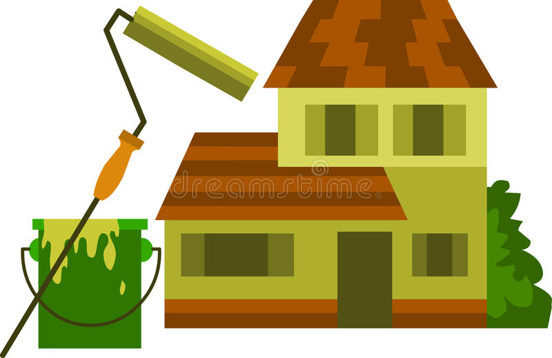 Download Roller Brush With Yellow Paint And Bucket Stock Photo - Image: 14822070