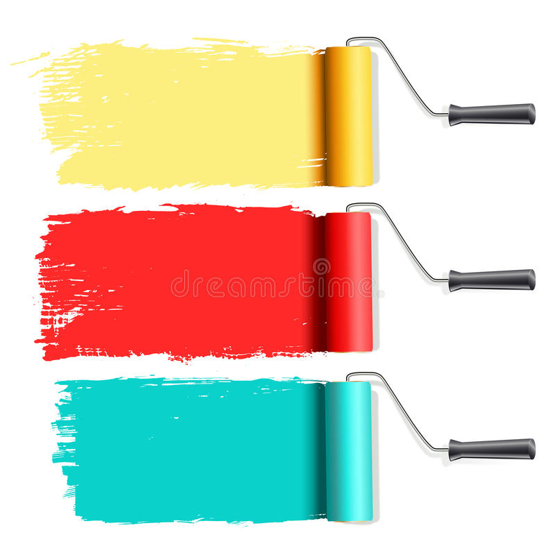 Download Roller brushes painting stock vector. Image of pattern - 29499672