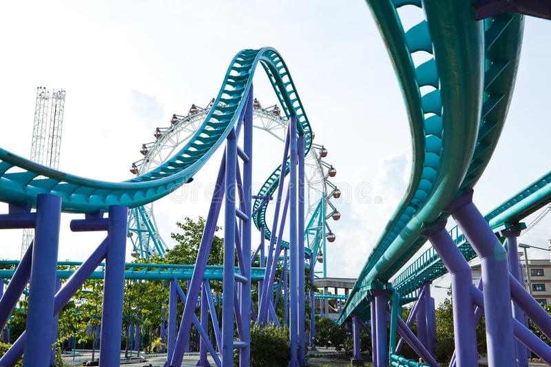 Download Roller coaster stock image. Image of high, background - 14862209