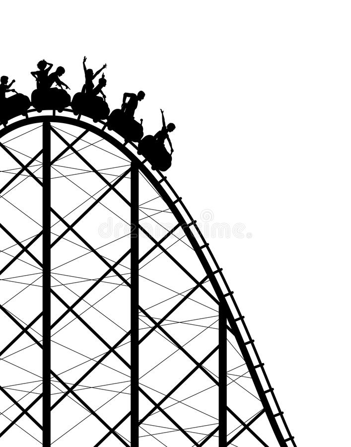 Roller coaster illustrazione di stock