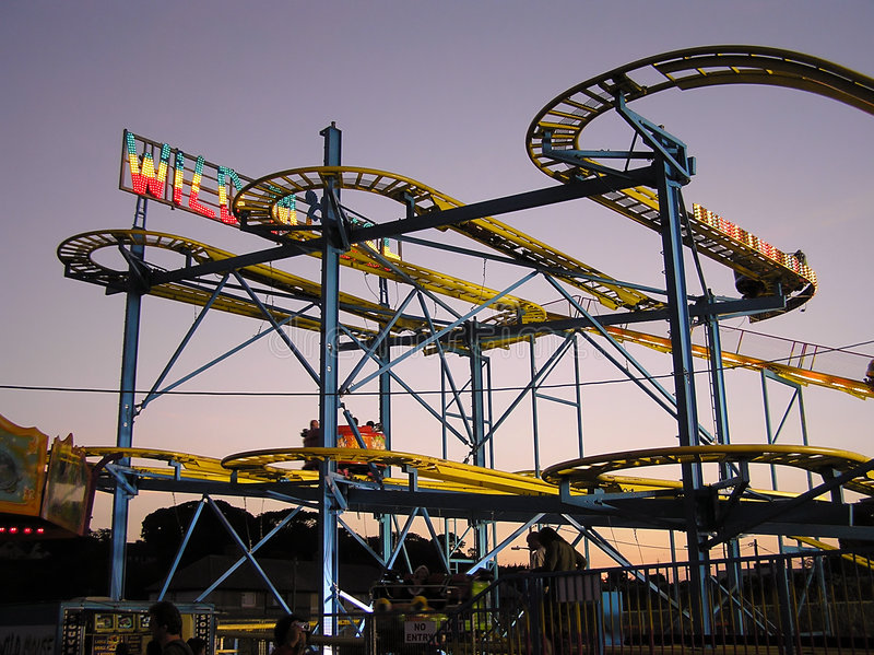 Roller Coaster 2 royalty free stock photos