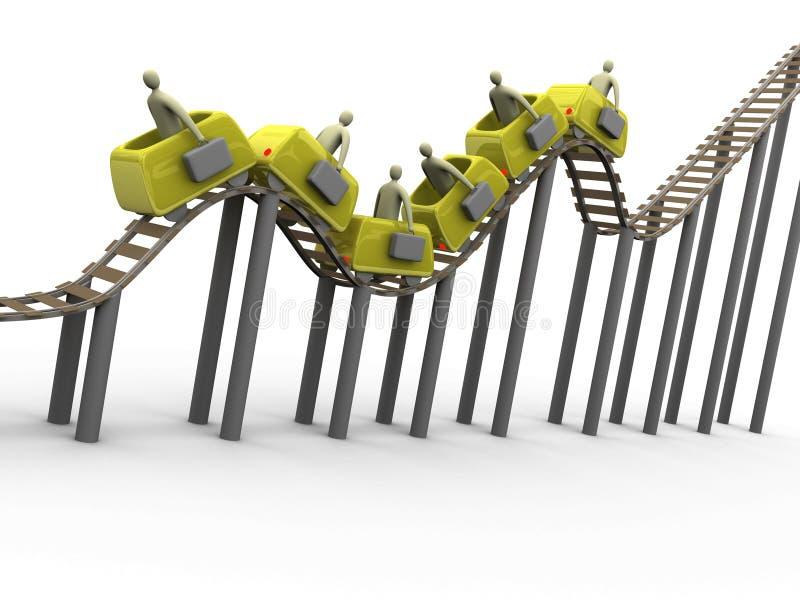 Roller coaster #2 di affari illustrazione di stock