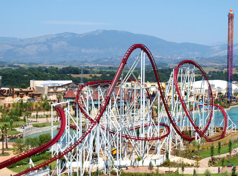 Download Roller-coaster editorial image. Image of speed, holiday - 20066755