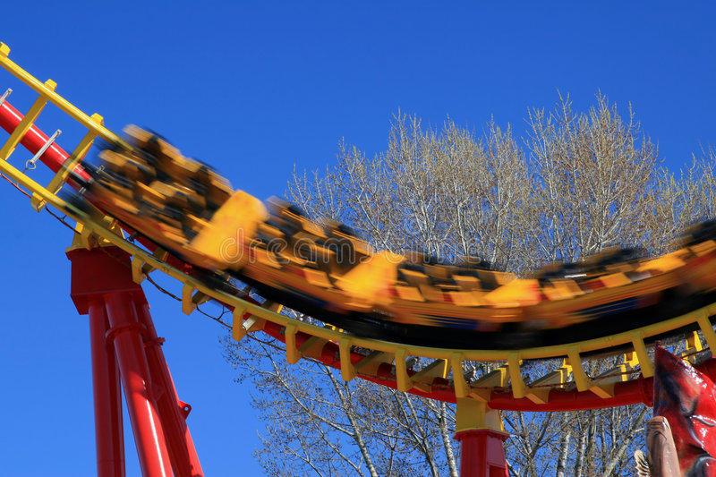Download Roller coaster stock image. Image of rollercoaster, exhilaration - 2222197