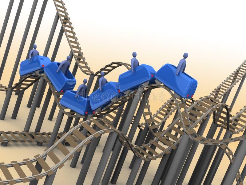 roller coaster 3d ilustração stock