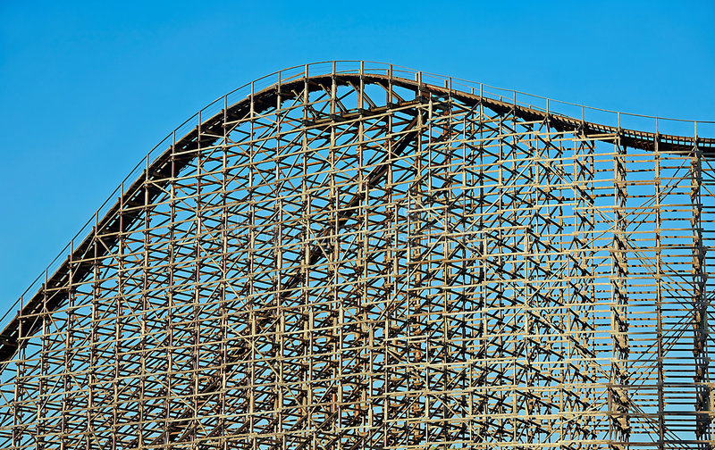 Download Roller Coaster stock image. Image of festive, amusement - 5165441
