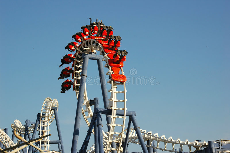 Download Roller coaster stock photo. Image of entertainment, colors - 531642