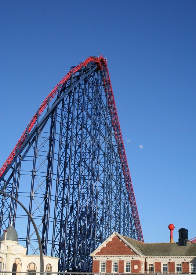 Roller coaster. fotografia stock libera da diritti
