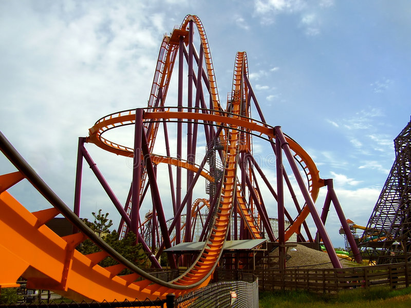 Roller Coaster stock images