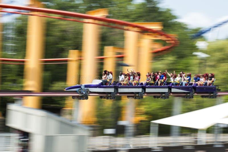 Roller coaster imagenes de archivo
