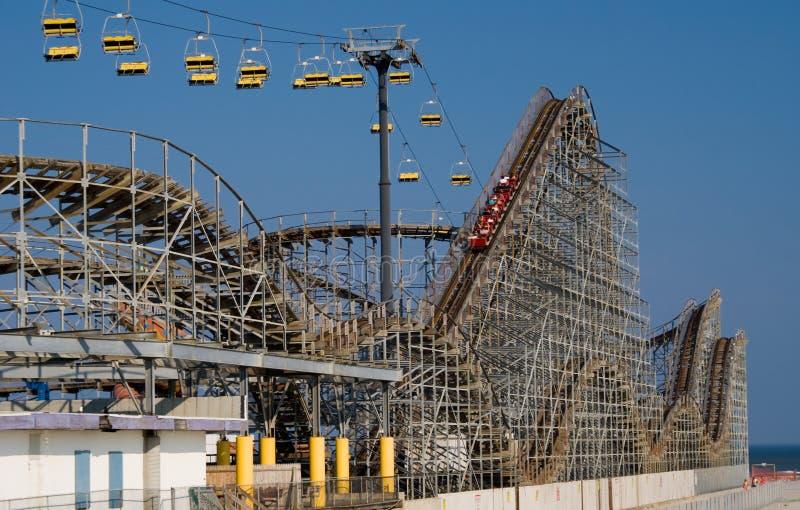 Roller coaster fotografie stock libere da diritti