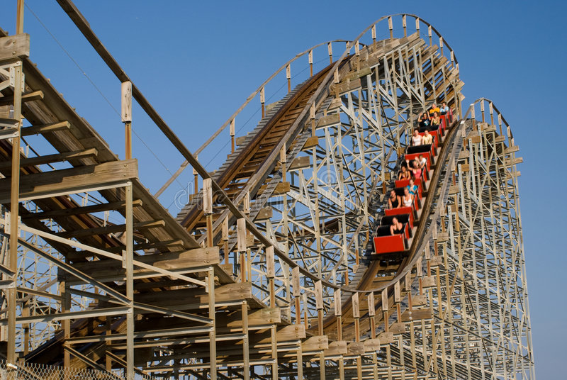 Roller coaster immagini stock