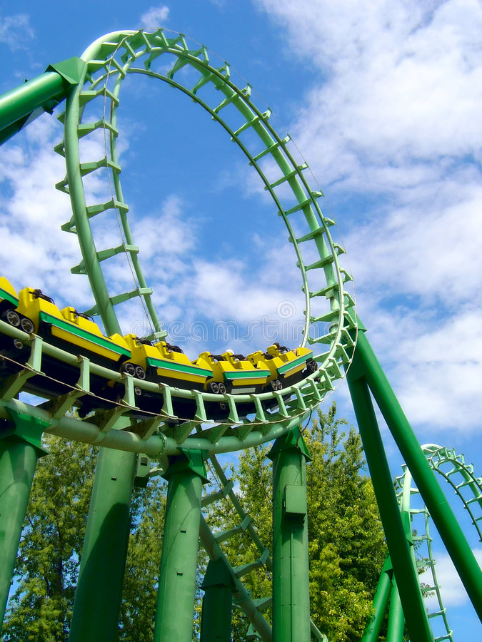Roller coaster foto de archivo libre de regalías