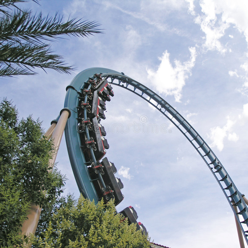 Roller coaster; fotografia stock