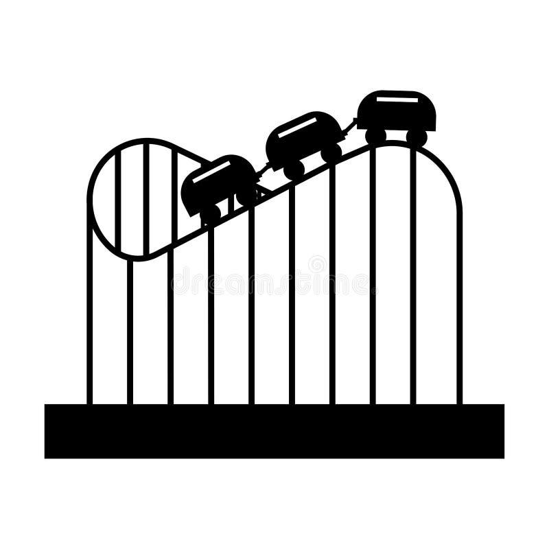 Roller coaster in amusement park sign. Eps ten royalty free illustration