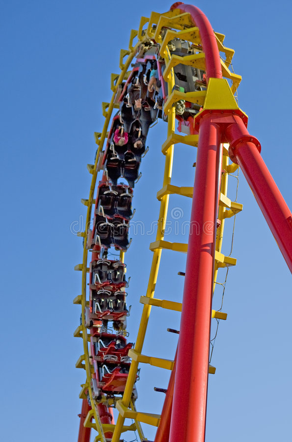 Free Roller Coaster At The Fairground Stock Images - 6633324