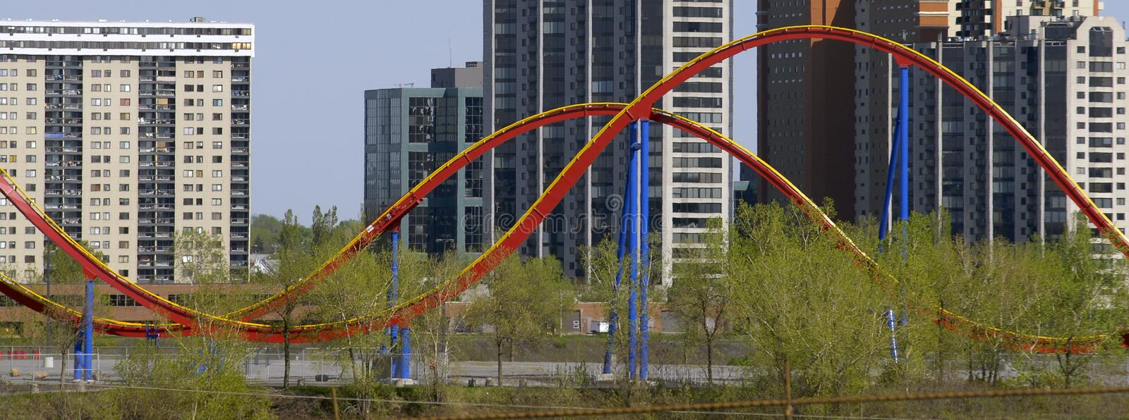 Download Roller Coaster & Buildings Royalty Free Stock Photos - Image: 2414308