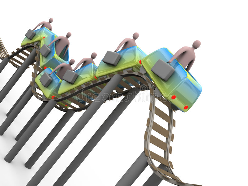 Roller coaster do negócio ilustração stock