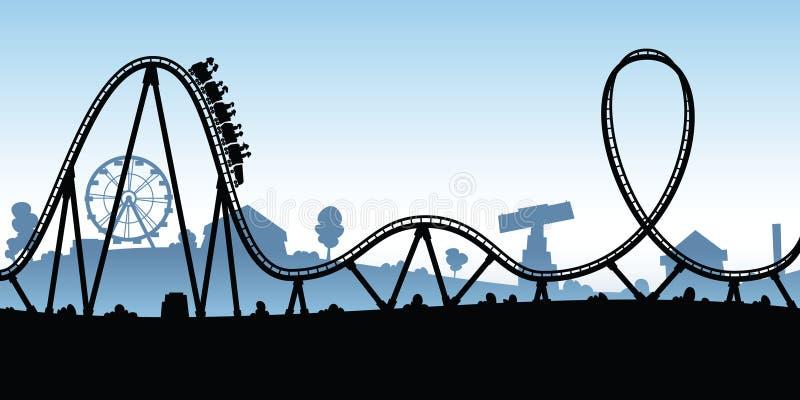 Roller coaster dos desenhos animados